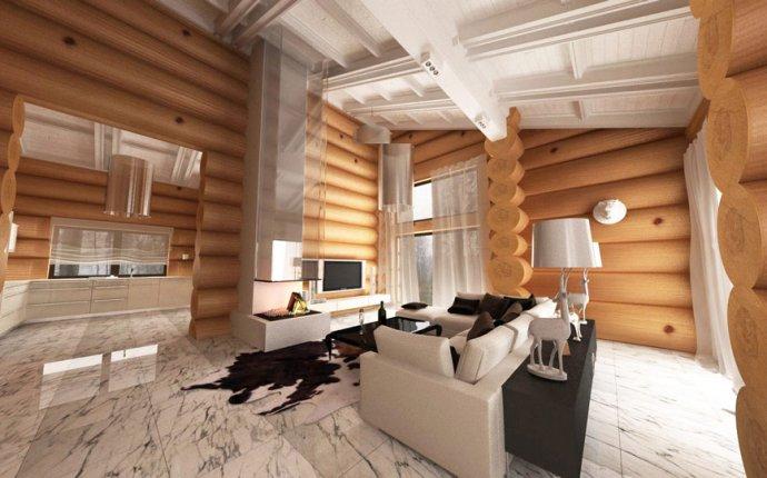 Дизайн интерьера бревенчатого дома в п. Великое | Студия Design O!