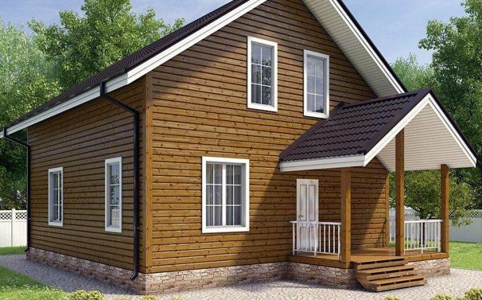 Дома из бруса недорого, строительство деревянных домов