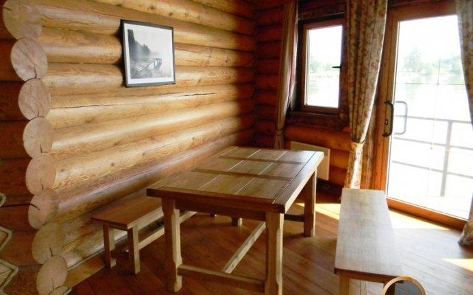 Фото галерея: внутренняя отделка домов и бань из оцилиндрованного