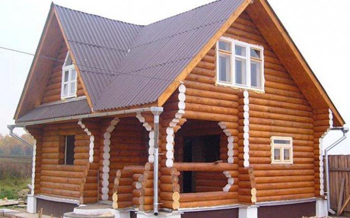 Покраска дома из оцилиндрованного бревна | Строительство домов