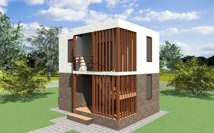 Проект бани-гостевого домика из SIP панелей с плоской крышей - Баня 44