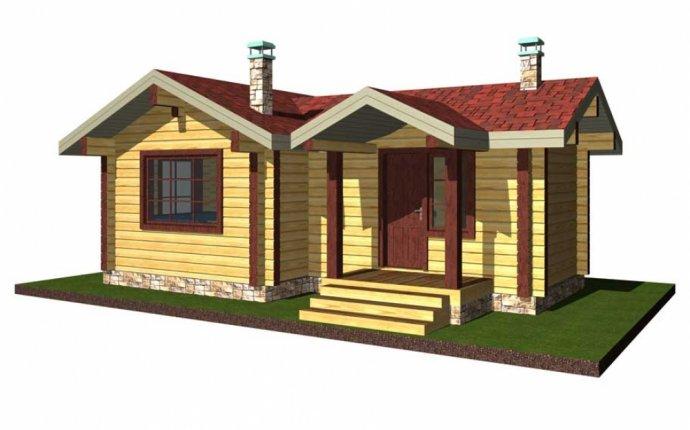 Проект деревянной бани 8.5*5.5 - ПСК Генеральские Срубы
