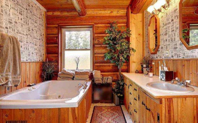 в доме из бруса сделать ванную комнату